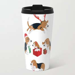 Beagle christmas Travel Mug