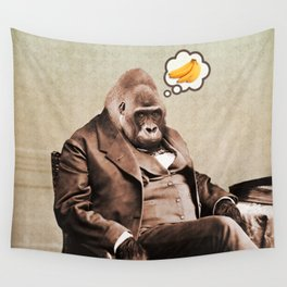 Gorilla My Dreams Wall Tapestry