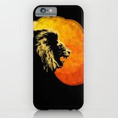 NIGHT PREDATOR : lion silhouette illustration print iPhone 6s Slim Case