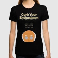 Curb Your Enthusiasm - Hbo tv Show with Larry David - Poster SMALL Black Womens Fitted Tee