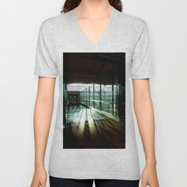 Boarding shadows Unisex V-Neck