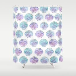 iridescent shells pattern Shower Curtain