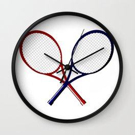 Crossed Rackets Wall Clock