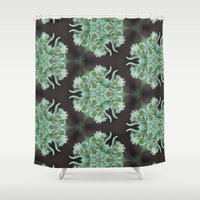 uk Shower Curtains featuring UK Cheese  by Gonzobeanz7