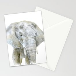 Elephant Watercolor Painting - African Animal Stationery Cards
