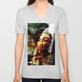 """The River of Creativity Runs Through Her"" Unisex V-Neck"