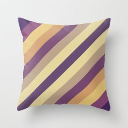 Colorful Lines Throw Pillow
