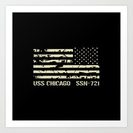 USS Chicago Art Print