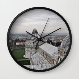 View From The Leaning Tower Wall Clock