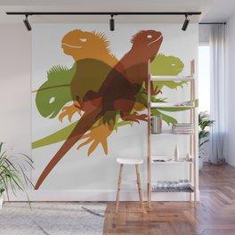 Iguanas Wall Mural
