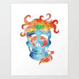Sally sells sea skulls by the seashore Art Print