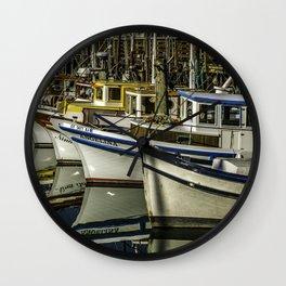 Angelina At The Wharf Wall Clock