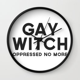 Oppressed No More Wall Clock