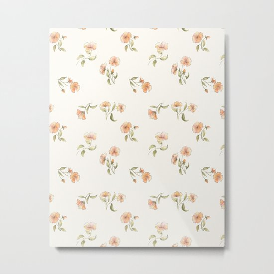 Bright Floral Pattern Metal Print