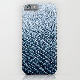 Sand Patterns, blue iPhone Case
