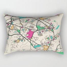 Colorful City Maps: Annapolis, Maryland Rectangular Pillow
