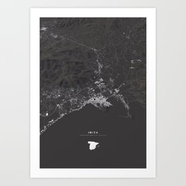 Ibiza City Map  Art Print