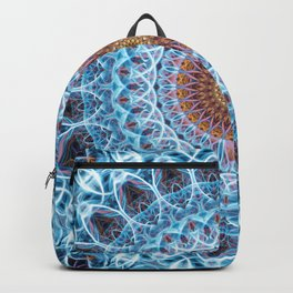 Light blue and brown mandala Backpack