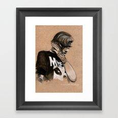 Zayn Charcoal sketch Framed Art Print