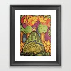 girl on a hill Framed Art Print