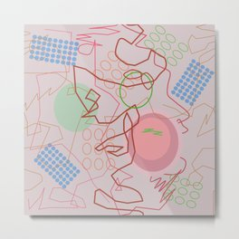Abstract 8 pink Metal Print