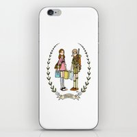 moonrise kingdom iPhone & iPod Skins featuring Moonrise Kingdom  by Dueling Doodlers