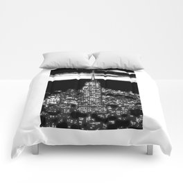 1930 New York City by night Comforters