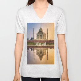 all izz well india Unisex V-Neck