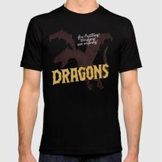 Dragons MEDIUM Black Mens Fitted Tee