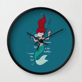 Keep Calm: Ariel Wall Clock