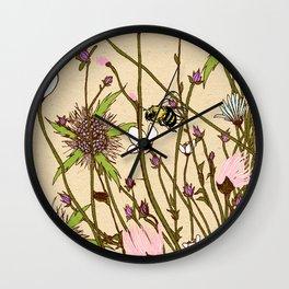 Wild Flowers Part 2 Wall Clock