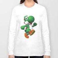 yoshi Long Sleeve T-shirts featuring Yoshi Geometric by Sharna Myers