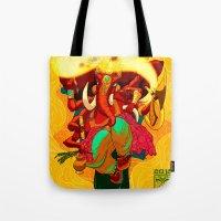 ganesh Tote Bags featuring Ganesh by marekolani