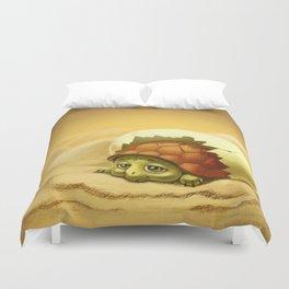 little turtle in the egg Duvet Cover