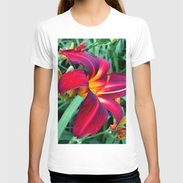 Red Lily Flower T-shirt
