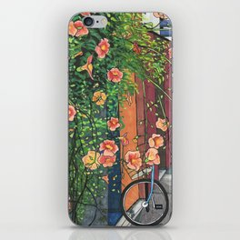 Flowers in an Alley iPhone Skin