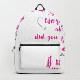 Do you exist at all?   Infernal Devices Backpack