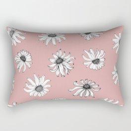 Black Eyed Susans In Pink Rectangular Pillow