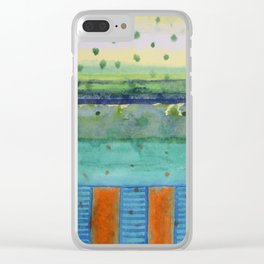Orange Posts With Landscape Clear iPhone Case