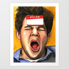 ADAM HUNGOVER Art Print