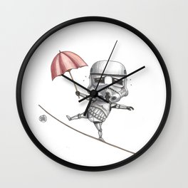 Ropedancing Stormtrooper Wall Clock