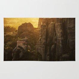 Golden hour at Meteora Rug