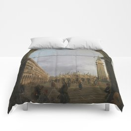 Piazza San Marco by Canaletto Comforters