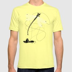 Here, There & Back Again (P). SMALL Lemon Mens Fitted Tee