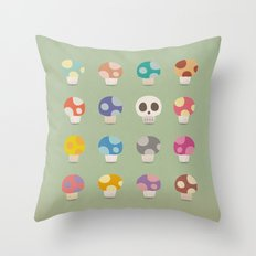 How to Tell Poison Mushrooms Throw Pillow