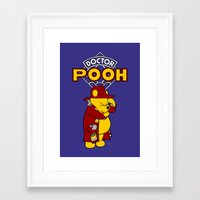 pooh Framed Art Prints featuring Doctor Pooh by cû3ik designs