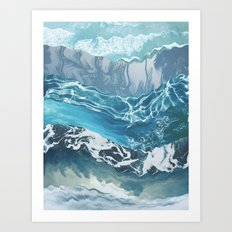 Sea abstract Art Print