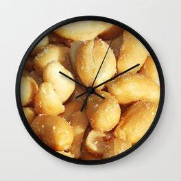 food, many small salted peanuts Wall Clock