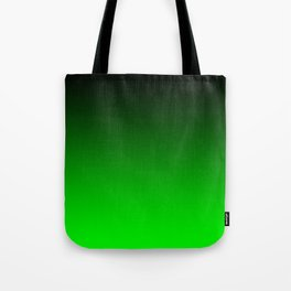 Black Lime Green Neon Nights Ombre Tote Bag