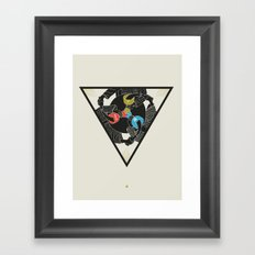 Trinity Icon - Three Color Framed Art Print
